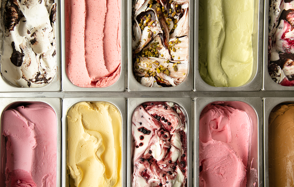 Changing GIO Gelati flavors