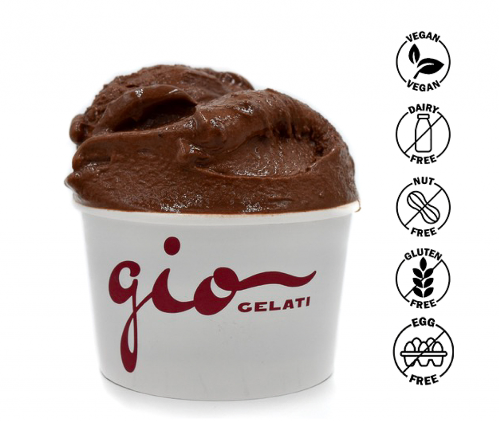 You will be very positively surprised by GIO Gelati dairy-free chocolate