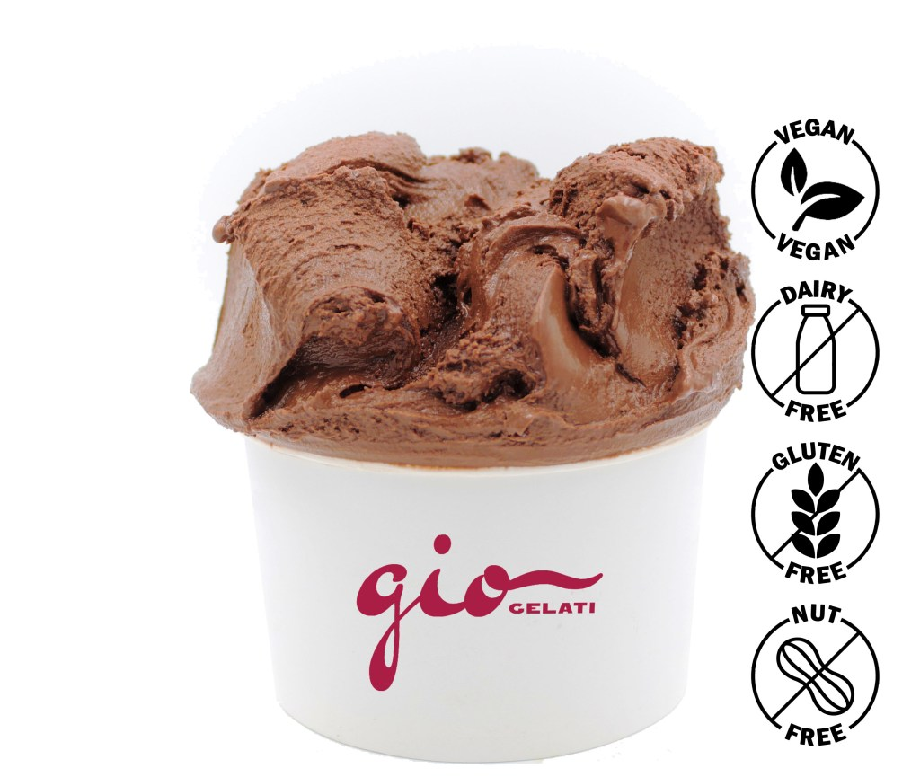 Dairy-free Chocolate Gelato. A premium flavor from GIO Gelati.